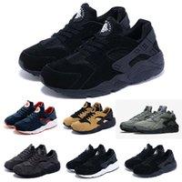 basketball fleece fabric - Famous Trainers Sneakers Men s Air Huarache Run Tech Fleece Wolf Sport Shoes Classic Man Black Huaraches Sports Running Shoes Size