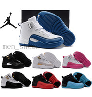 toe shoes - Kids Nike Air Jordan Shoes Children Basketball Shoes Boy Girl Retro12s Black Sports Shoes Toddlers Jordan Athletic Shoes Birthday Gift