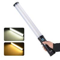 Wholesale DHL AS Handheld Stick LED dual Color temperature Lamp Photography Magic Tube LED Light K K Tube Light