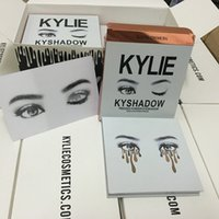 Wholesale Kylie Jenner Eyeshadow Pressed Powder Kylie Jenner Kyshadow Cosmetics Eye Shadow Palette Bronze Long lasting Matte Free DHL
