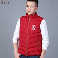 Wholesale BRSR Men s autumn and winter new cotton Korean version of the sleeveless collar thin slim waistcoat waistcoat