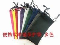 Wholesale 1000pcs waterproof leather plastic sunglasses pouch soft eyeglasses bag glasses case electric item phone mobile phone bag