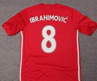 manchester - New season IBRAHIMONVIC Manchester Thai Quality jersey Home red away blue football shirts size S XL