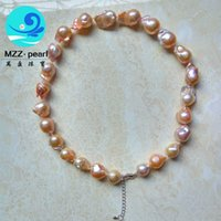 adorn freshwater pearl - Fireball pearl necklace flameball pearls blush freshwater rose gold nucleated Simply Adorned