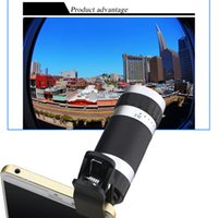 Wholesale Universal Lightweight Macro Wide Angle x Zoom Optical Telescope Telephoto Camera Len Clip in For Samsung iphone Mobile Phone