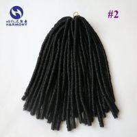 (1 paquete / porción) El Dreadlocks sintético suave más oscuro del pelo del ganchillo del pelo de la torcedura de Dreadlocks de Brown 18inch 110gram del envío LIBRE bloquea la armadura