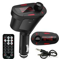 Wholesale 3 Colors Car Kit MP3 Mucsic Player Wireless FM Transmitter Radio Modulator With USB SD MMC Remote Control