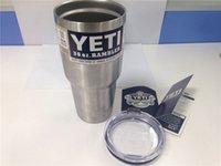 Wholesale Yeti oz Cups YETI Rambler Tumbler Travel Vehicle Beer Mug Double Wall Bilayer Vacuum Insulated Stainless Steel ml