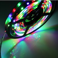 Wholesale DC V Led Strips Flexible LED Strip for TV Car Computer Bike Bicycle Tent Lighting for Halloween Christmas RGB Strip LED with Controller