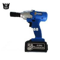 Wholesale 58v r min Rechargeable battery charging shelf scaffold electric impact wrench hammer drill Electric wrenches power tools