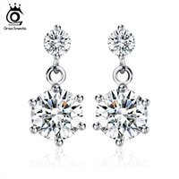 Wholesale New Arrival Earring Elegant Austria Cryatal Earring S925 Sterling Silver on Platinum Plated SWA Elements Jewelry OE34