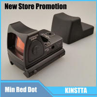 Wholesale 2016 KINSTTA Tactical Reflex Adjustable Min Red Dot Sight Scope for Rifle Scope Hunting Shooting CS Sight