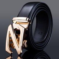 Wholesale Belts New Designer Automatic Buckle Cowhide Leather Mens Belts Luxury Belts For Men High Grade Mens Belts Large Size Cm Cm