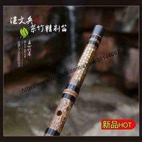 bamboo flute chinese - ZWB009 Freeshipping purple bamboo musical instrument professional Chinese Bamboo flute Dizi entire Key E F G