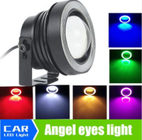 Wholesale 2pcs Universal Inch W Fog Lamp With COB Angel Eyes Fog Lamp Daytime Running Light Car DC V Any Car Can Use BA