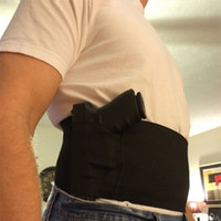 Wholesale Men Waist Band Belt Outdoor Tactical Adjustable Belly Band Waist Pistol Gun Holster With Double Magazine Pouches BZ674575
