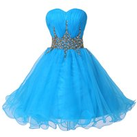 beautiful night dress - Beautiful Crytals A Line Cocktail Dresses Hot Sale Sweetheart Lace up Back Short Prom Night Dress Good Design