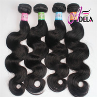 Wholesale 8A Brazilian Hair Weave inch Or Malaysian Peruvian Indian Hair Bundles Body Wave Human Hair Weft Extension