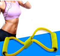 Wholesale 8 Type Fashion Expander Fitness Sport Rope Type Exercise Yoga Muscle Chest Workout Tube Pulling Exerciser