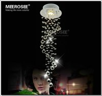 art deco steel - Sprial Crystal Chandelier Light Modern Crystal Light Lamp for Aisle Porch Hallway Stairs with GU10 Light Bulb Guarantee