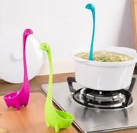 Wholesale Nessie Ladle Vertical Long Handle Plastic Spoons Dinosaurios Loch Ness Monster Nessie Cucharas Largas Louche De Cuisine