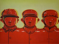 army soldier pictures - Hand painted oil painting Modern Chinese contemporary Art Soldiers The red Army Wall picture Painting Canvas