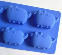 animal cake molds - holes animal cats silicone kitchen baking molds for handmade cake chocolate ice soap candy pudding mousse bread bakeware suppies