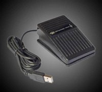 Wholesale Pieces High Quality USB Foot Switch Pedal Switch HID PC Computer USB Action Control Keyboard Black