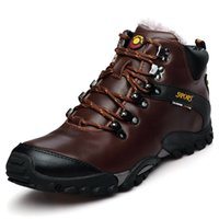 Wholesale Mens High Top Leather Outdoor Trekking Hiking Shoes Boots For Men Sports Climbing Mountain Shoes Man Senderismo