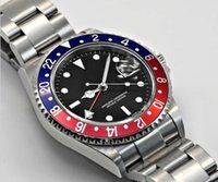 automatic watering - hot sale Christmas gift automatic top brand dweller sea brand stainless steel black dial mens Mechanical Watches R00