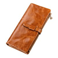 Wholesale 2016 New Fashion Genuine Leather Wallet Women Wallets Real Cowhide Wallet Long Design Clutch Female Purse Carteras Mujer