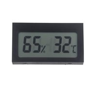 Wholesale Mini Portable Digital LCD Indoor Humidity Thermometer Hygrometer Meter Electronic New Weather Station Wireless Barometer