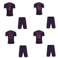 barcelona away uniform - 1617 Purple Away Barcelona Jerseys Hot Soccer Uniforms Messi Neymar Jr Full Sets Football Shirts Shorts Good Quality Camisetas De Futbol