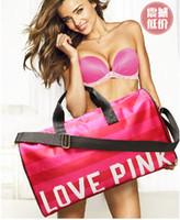 beach luggage - Love PINK new fashion Duffel Bags Gym Bags Travel Bag luggage bag female beach bag dhl