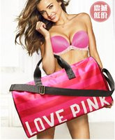 Wholesale Love PINK new fashion Duffel Bags Gym Bags Travel Bag luggage bag female beach bag dhl