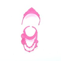 Wholesale Fashion Plastic Chain Necklace For Barbie Doll Party Accessories Fashion Jewelry Necklace For Dolls