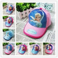 Wholesale 2016 Summer Frozen Baseball Cap Cartoon Poke kids Caps Hats Toy Hats Children Sofia cotton Baseball Cap in stock a05060010