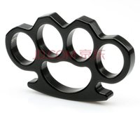 Wholesale Factory Price New Black Silver MINI Brass Knuckle Dusters One Pair Pure steel handcuffs fist iron fist iron