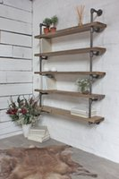 antique wood ladder - Modern wood ladder wall shelf pipe design bookshelf Industrial Vintage Iron Pipe Tier Metal Bathroom Shelf