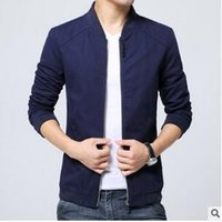 access button color - New Men s Youth Baseball Jacket Zipper Collar Button Fashion Decorative Water Access Slim Coat Q