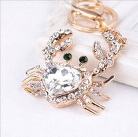 american ring company - The European and American fashion crystal small crab key ring chain gifts auto parts gift company