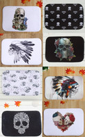 Wholesale 40 cm Skull Series Bath Mats Anti Slip Rugs Coral Fleece Carpet For For Bathroom Bedroom Doormat Online