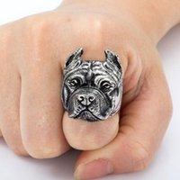 Wholesale 1pc Unique Men Finger Ring Animal Bulldog Design Ring Fashion Jewelry QJ