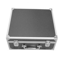 Wholesale Solong tattoo Large Luxury Aluminium Tattoo Set Kit Empty Carry Box Case Black TA702
