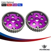 Wholesale PQY RACING One Pair Adjustable CAM GEARS KIT FOR Suzuki Swift GTI G13B cam pulley Blue Red Purple Black PQY6543