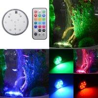 Wholesale 10 Led RGB Light Submersible Waterproof Party Vase Base Decors Remote Control