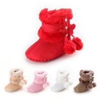 baby cross pendant - 2016 new Plush pendant bow thick warm baby toddler boots newborn girls plus velvet high waist casual sports walking boots CL