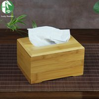 Wholesale Natural bamboo tissue box cover wood drawer Quality flip type tissue boxes vintage Creative napkin box for paper towels box