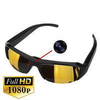Wholesale 16GB HD x1080P Min Eyewear Glasses Camera Mini DVR Sunglasses Camera Video Recorder Bolon Style Glass Camera Portable Security Camcorder