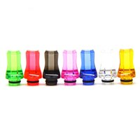 Wholesale 100pcs Plastic Drip Tips Flat Style DripTip Stylish DripTips Mouthpieces fit thread